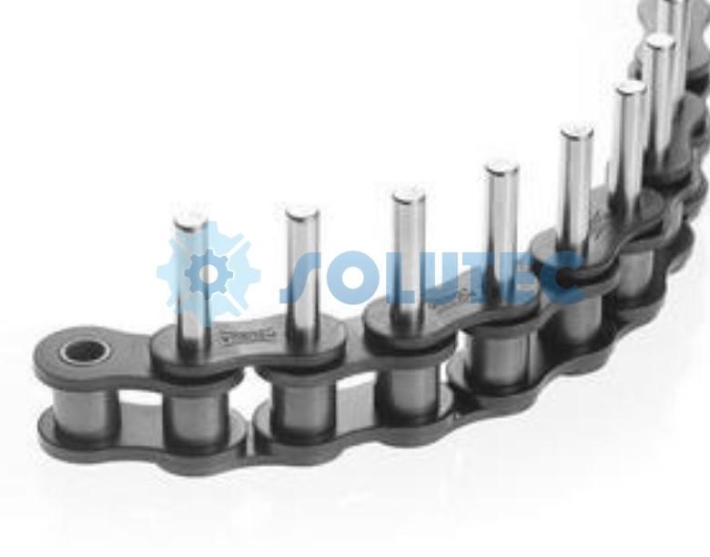 corrente com aditamento, corrente com pino longo, corrente com pino estendido, corrente modificada, corrente industrial com aditamento